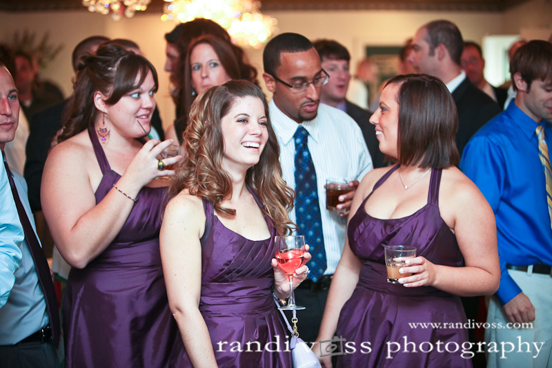 Bridesmaids enjoying the slideshow